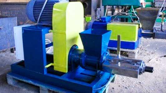 станок для производства топливных брикетов из опилок