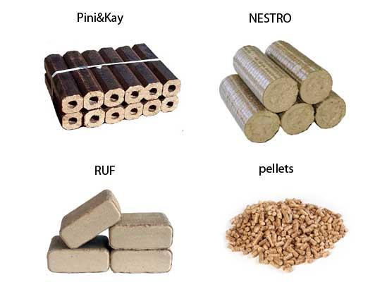 виды топливных брикетов
