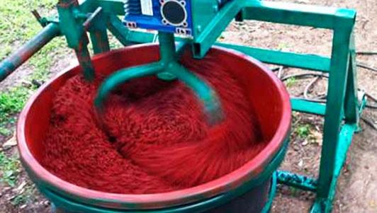 замешивание резиновой смеси