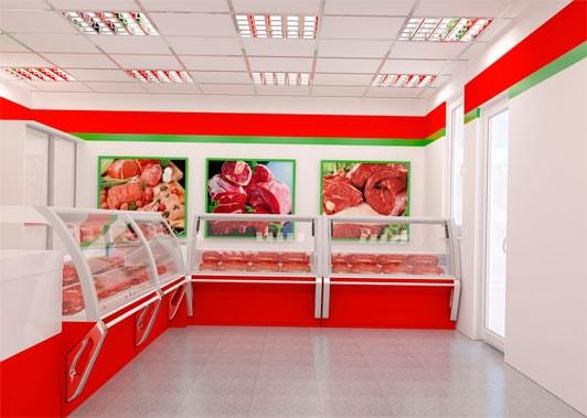 мясной магазин витрины